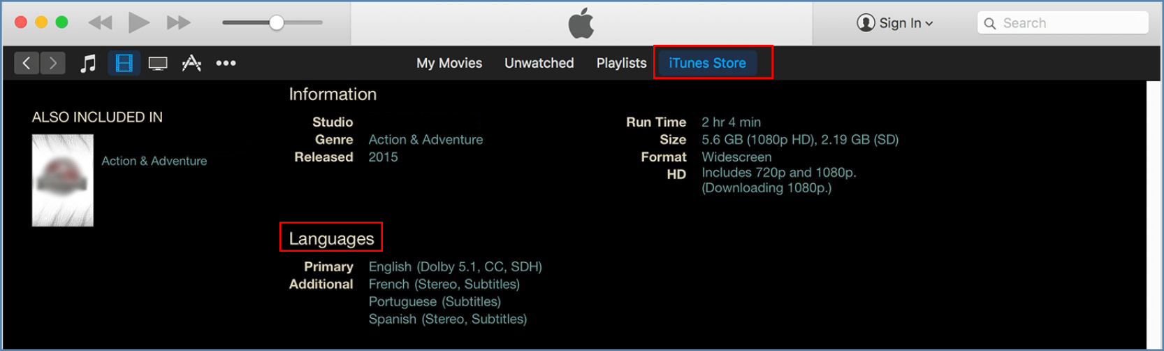 Image of iTunes interface