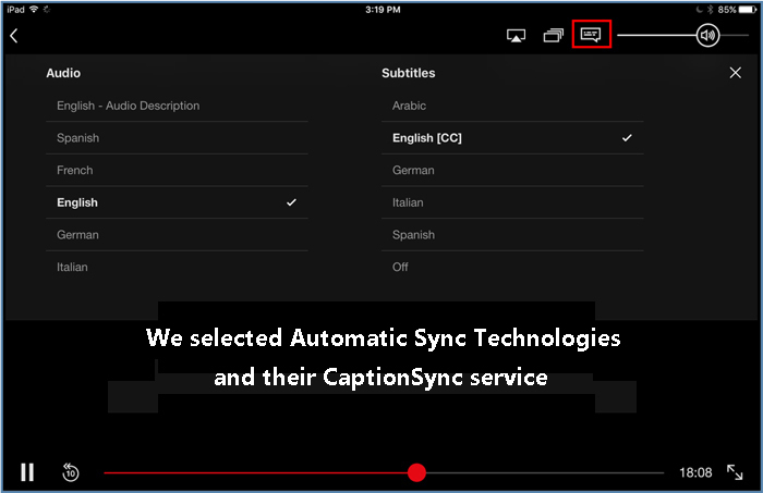 How to turn Captions on when viewing Netflix – CaptionSync Support