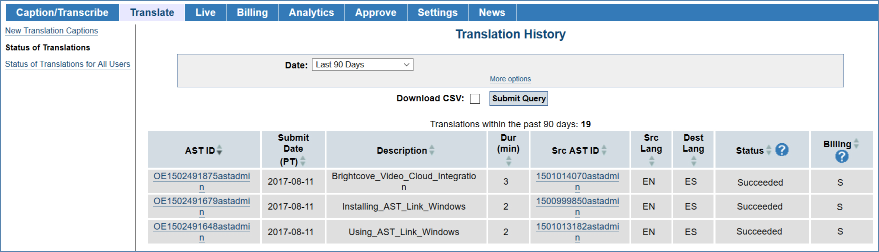 Image of the Status of Translations page