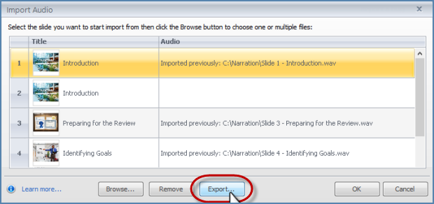 Image of Exporting Articulate Entire Presentatio