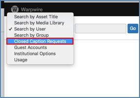 Image of Warpwire's admin panel