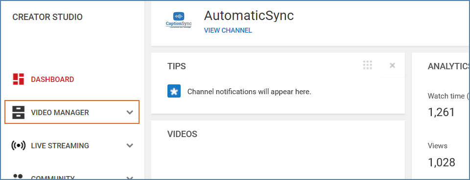 Image of the YouTube interface