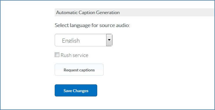 Image of the Automatic Caption Generation dialog box