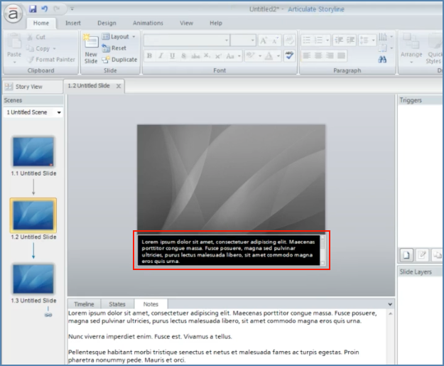 Image of Adding Captions Scrollbar into Articulate Presentation