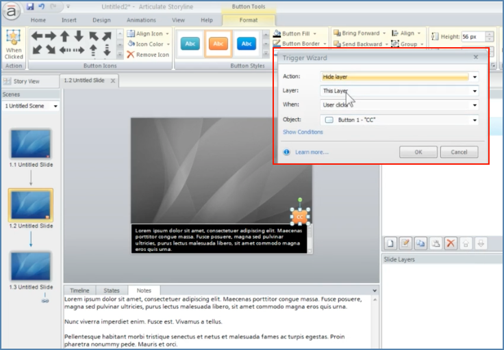 Image of Adding Captions into Articulate Presentation