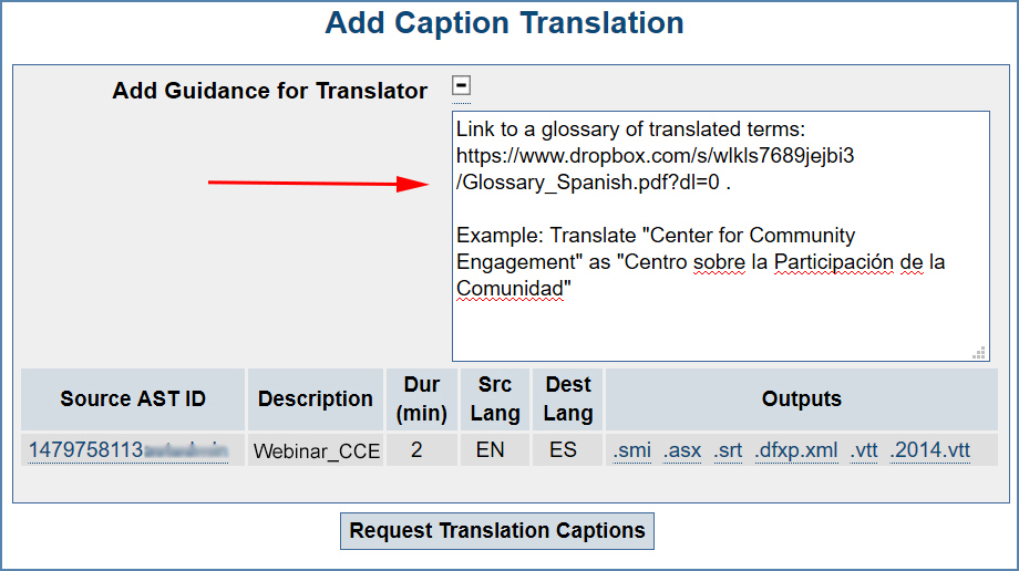 Image of the Translation page